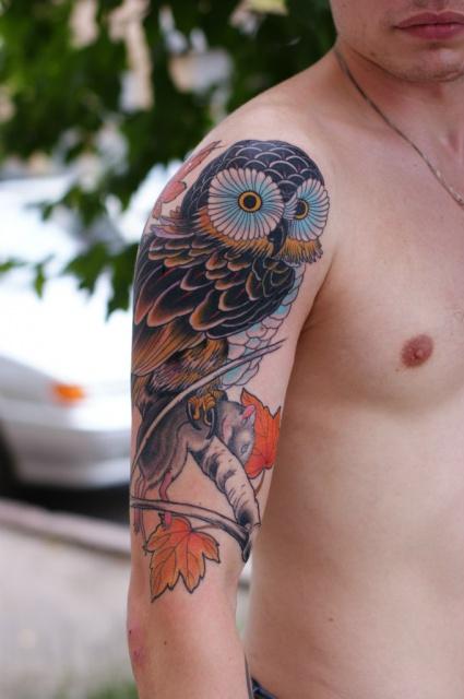 Татуировки совы (4)