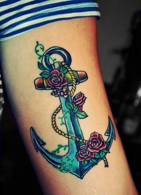 Татуировки якорь (4)