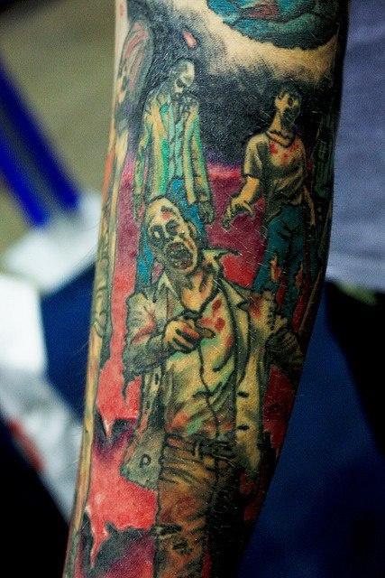 Татуировки зомби на руке