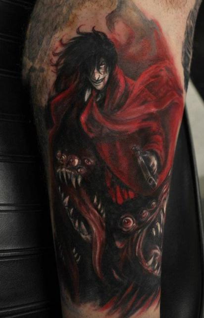 Alucard (Hellsing) алукард татуировка