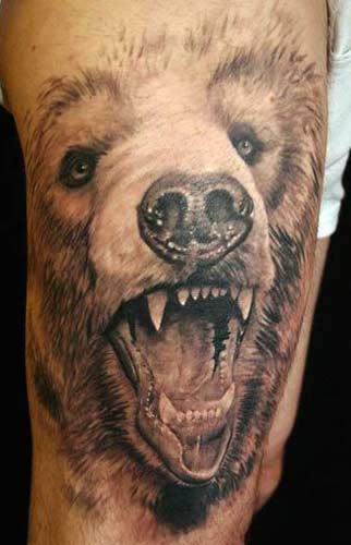 тату медведь (3)
