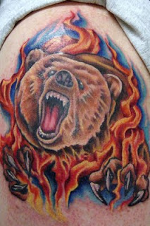 тату медведь (2)