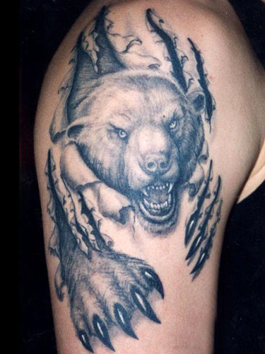 тату медведь (5)