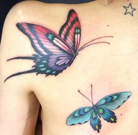 Тату бабочки (6)