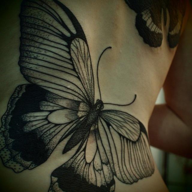 Тату бабочки (5)