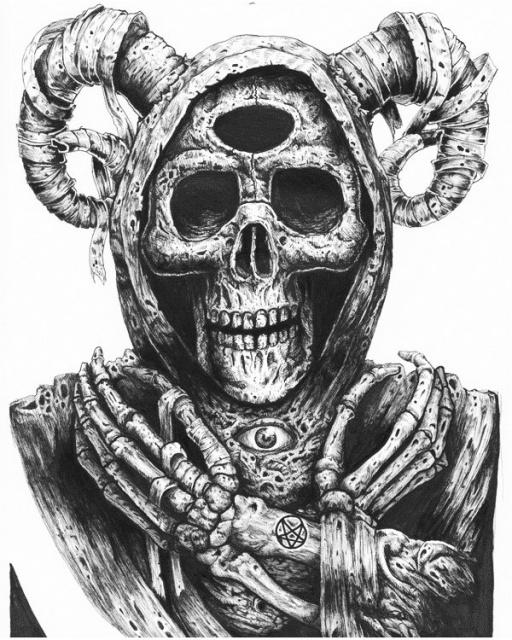 Идеи эскизов черепов Tommy Surya (6)