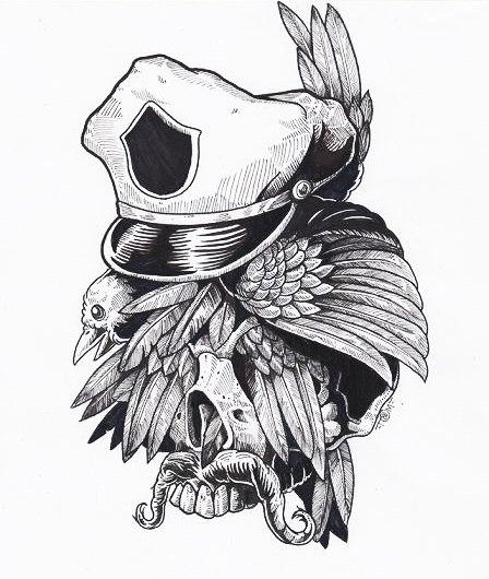 Идеи эскизов черепов Tommy Surya (4)