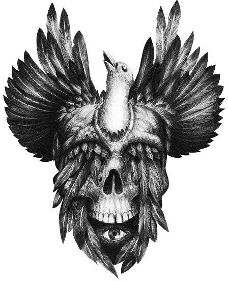 Идеи эскизов черепов Tommy Surya (2)