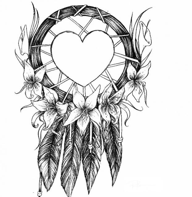 Эскизы татуировок ловец снов эскизы