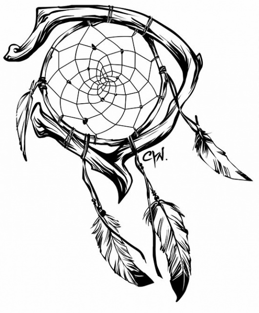 Эскизы ловец снов (1)