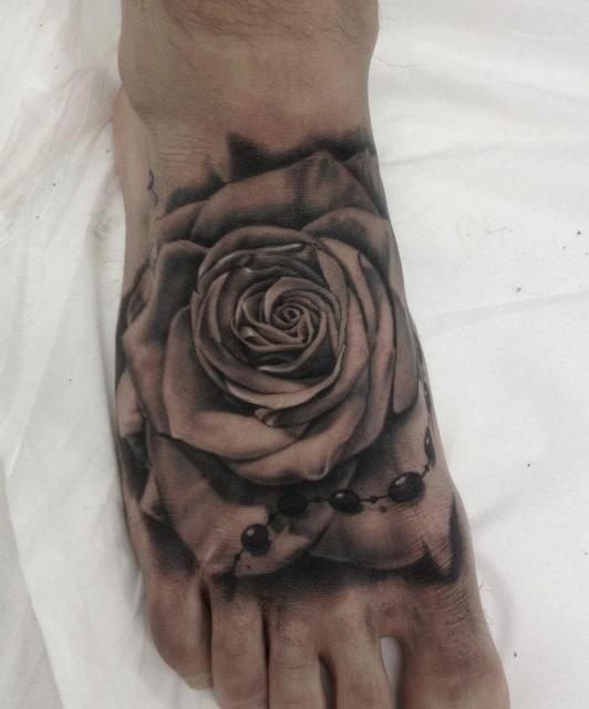 Татуировки на ступнях (4)