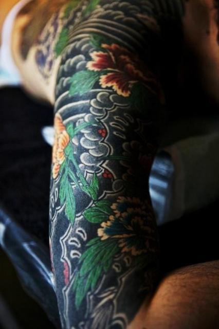 Японские татуировки на руках (7)