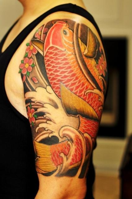 Японские татуировки на руках (5)