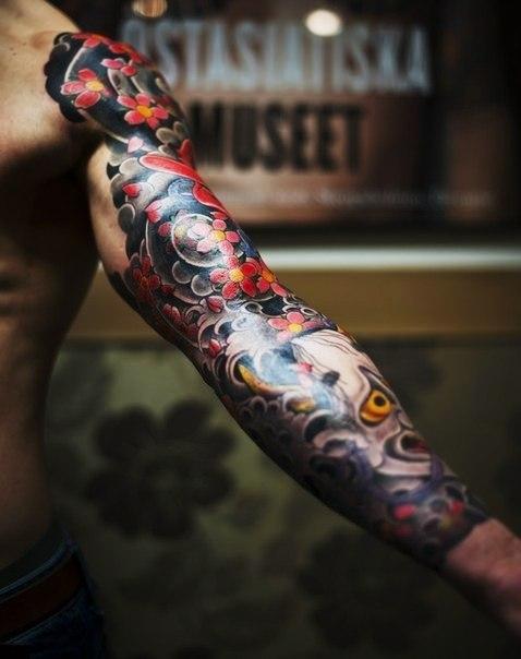 Японские татуировки на руках (4)