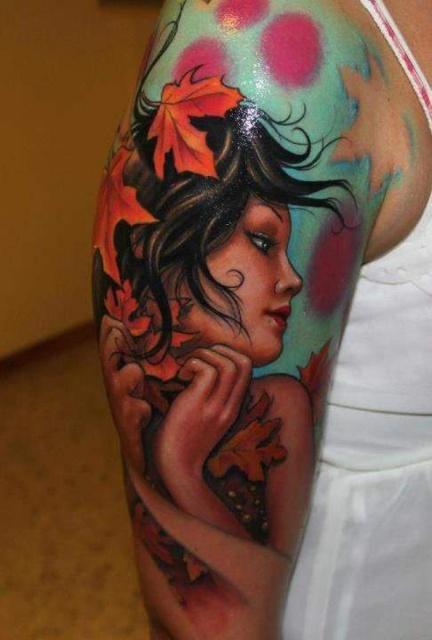 Татуировки на плече