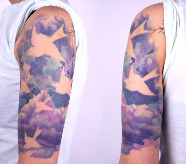 Татуировки акварелью (6)