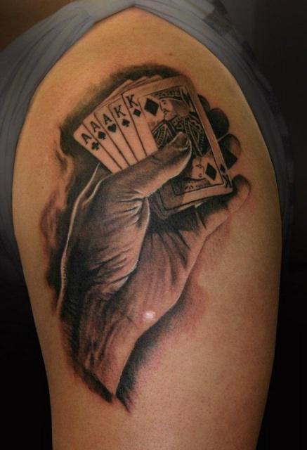 Азартные татуировки карты (5)