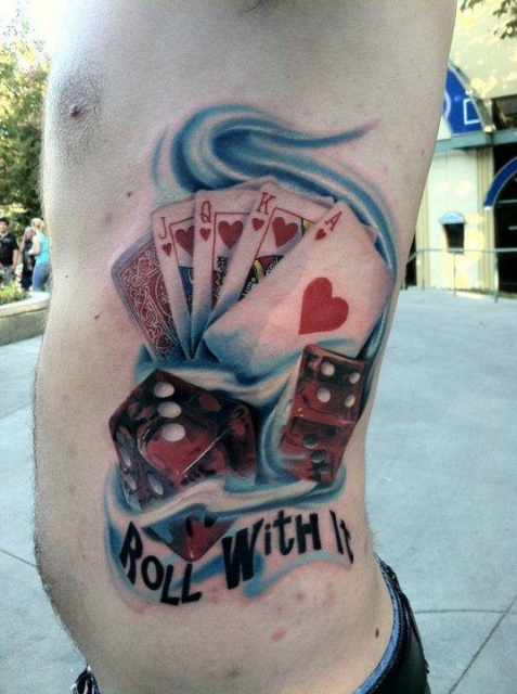 Азартные татуировки карты (6)