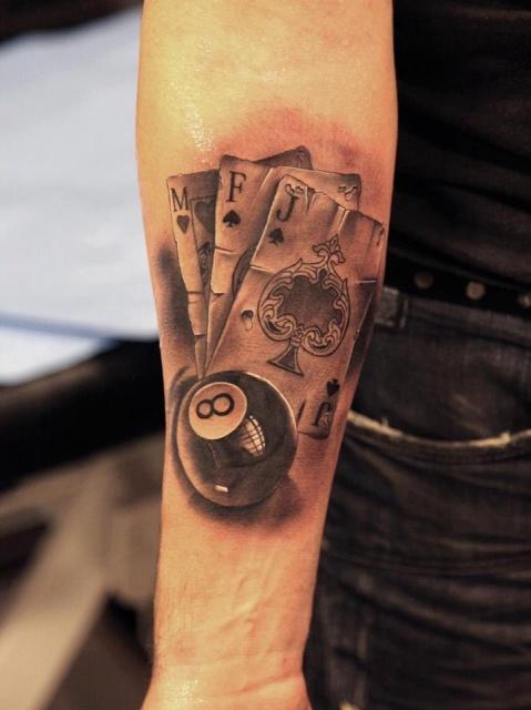 Азартные татуировки карты (7)