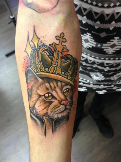Кот фото татуировки (1)