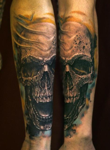 череп татуировки (14)