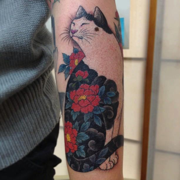 Кот фото татуировки (3)
