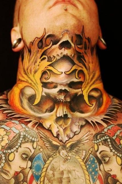 Фото татуировки шея (2)