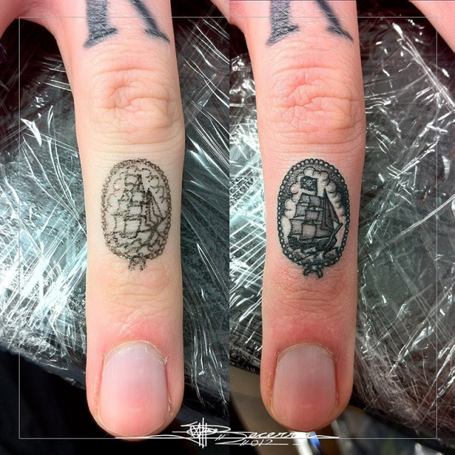 татуировки руки пальцы (9)