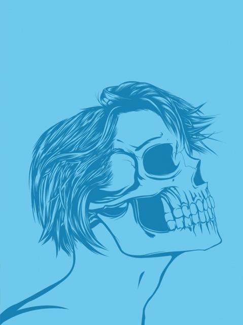 эскиз девушки череп (2)