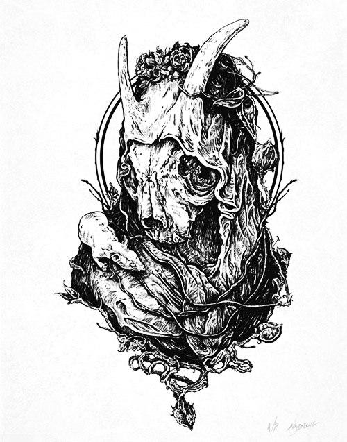 эскиз девушки череп (1)