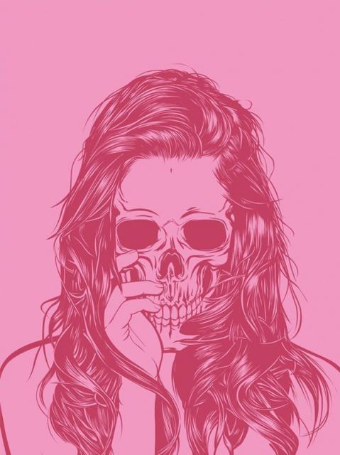 эскиз девушки череп (11)