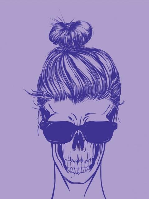 эскиз девушки череп (10)