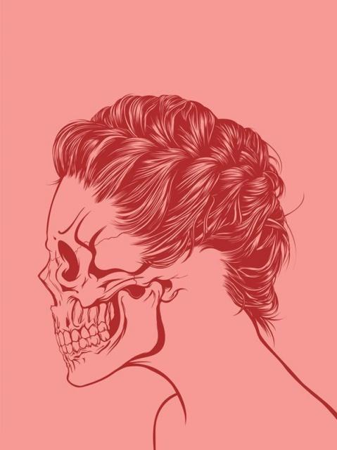 эскиз девушки череп (9)