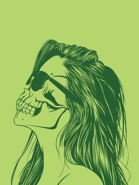 эскиз девушки череп (5)
