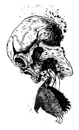 эскиз девушки череп (4)