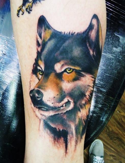 татуировка волк (6)