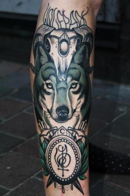 татуировка волк (4)