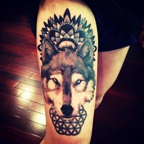 татуировка волк (3)