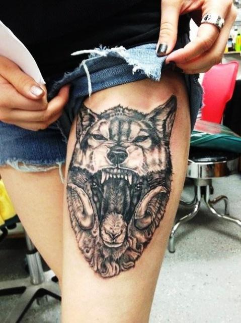 татуировка волк (1)