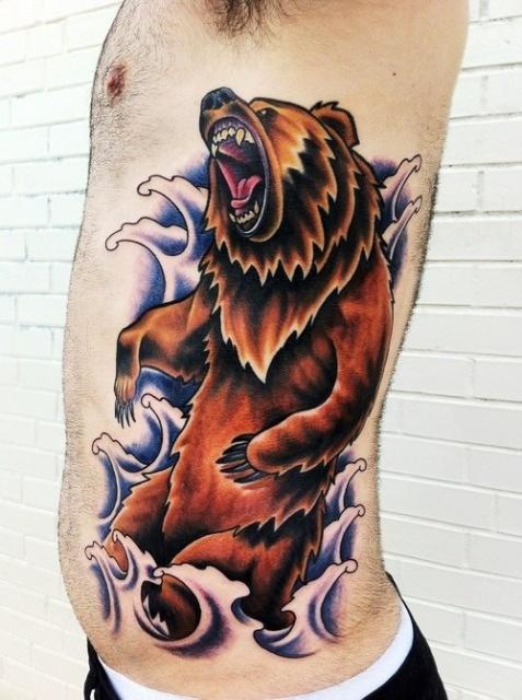 Татуировка медведь (6)