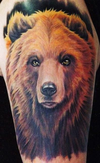 Татуировка медведь (4)