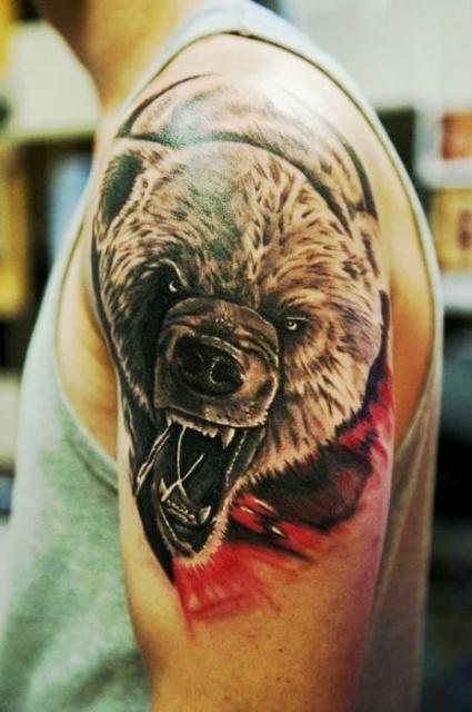 Татуировка медведь (1)