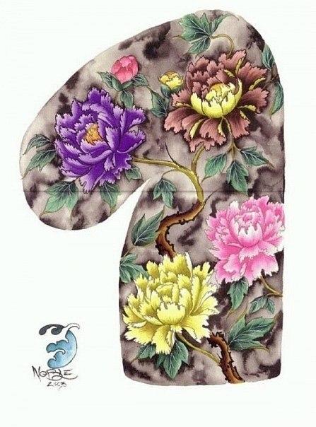 цветные эскизы рукав (4)