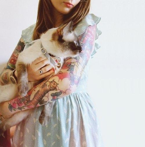 Кошка с кошечкой