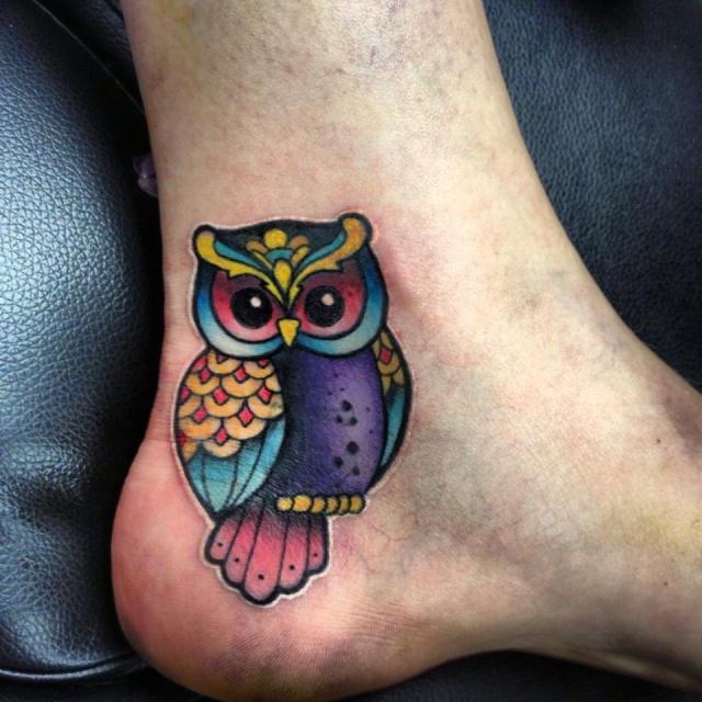 сова татуировка