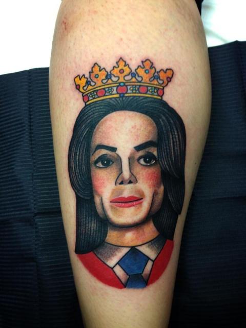 татуировка майкл джексон