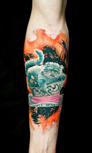 чеширский кот татуировка