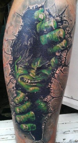 татуировка халк