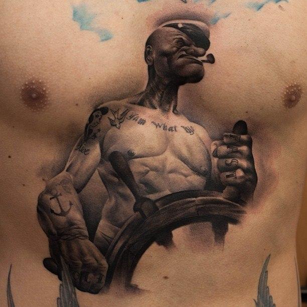 татуировка мультфильм