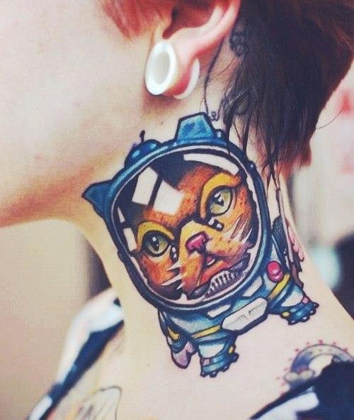 татуировки шея (6)